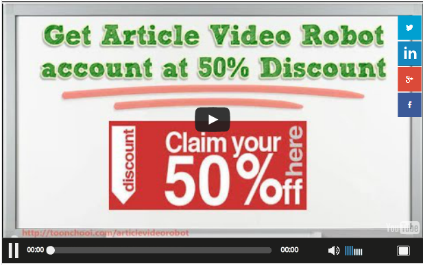 50% Off Article Video Robot Promotion Code