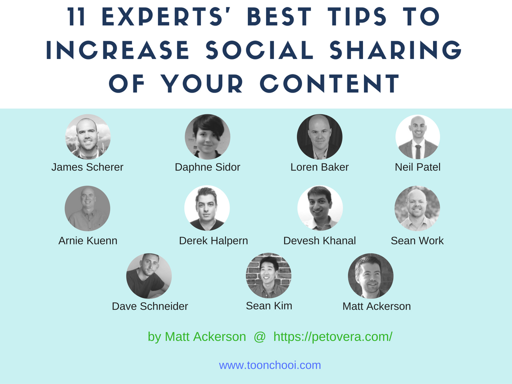 expert tips to increase your content social share