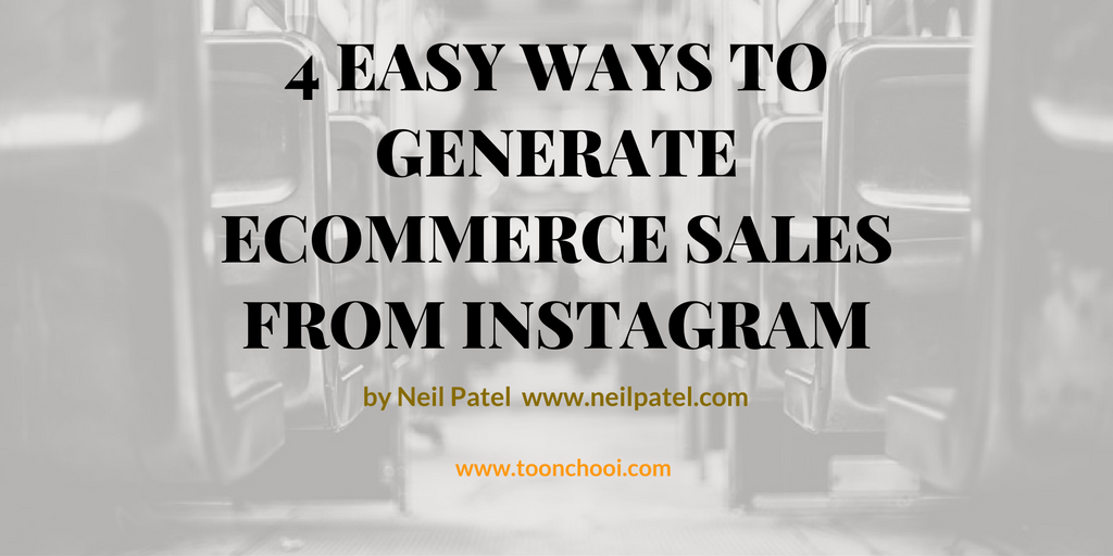 how to generate sales from Instagram