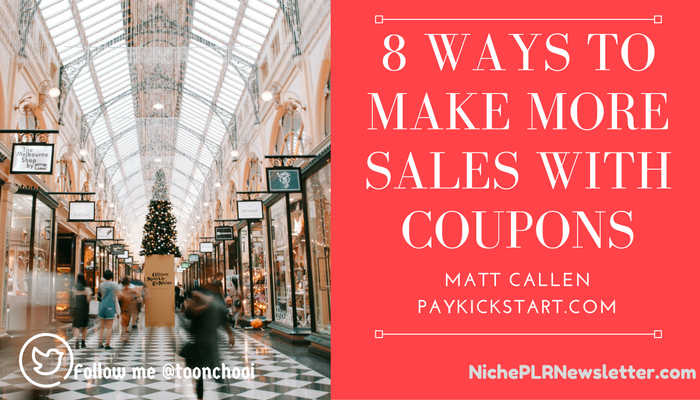 how to use coupon to boost sales