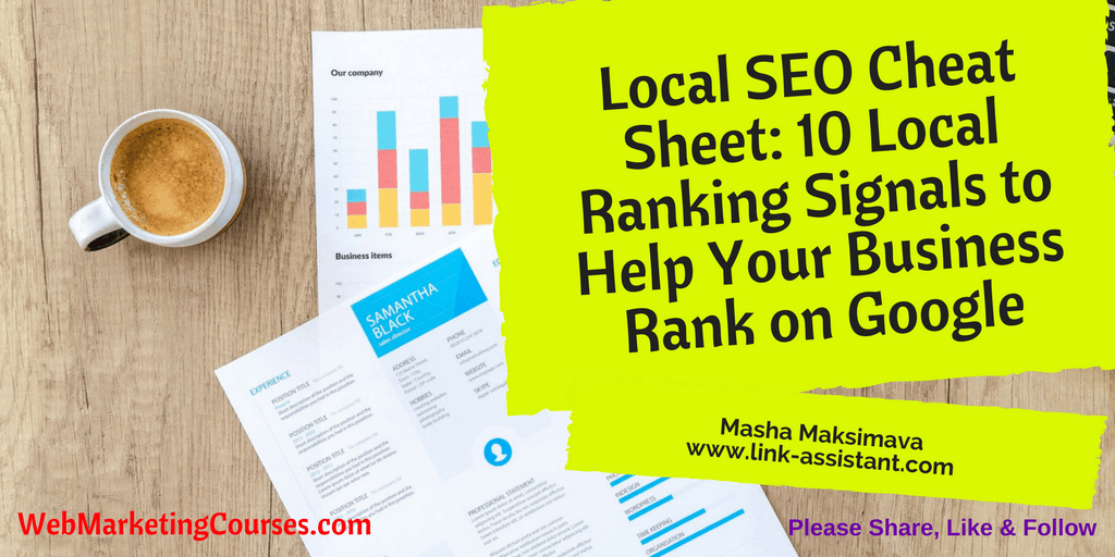 10 Local Ranking Signals to Help Your Business Rank on Google