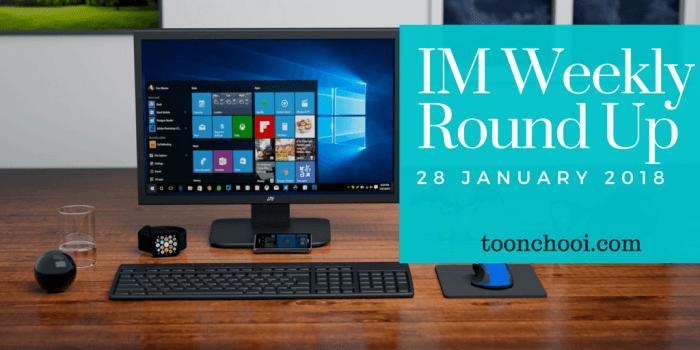Weekly Roundup January 2018